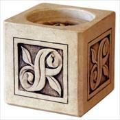 Infinity Cultured Stone Keepsake Candle Holder