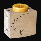 In Flight Cultured Stone Keepsake Candle Holder