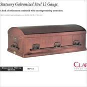 Clark Grave Vault Company/Statuary Galvanized Steel 12 Gauge    $2775