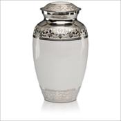 Fleur-de-Lis White Urn