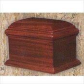 Vintage Mahogany Chest Urn