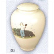 Golfer Porcelain Adult