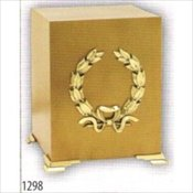 Brushed Bronze Cube with Brass Wreath