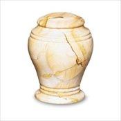 Teak Marble Bell Jar
