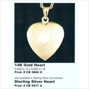 Keepsake Heart Pendants