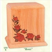Inlay Wood Art Urn