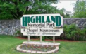 Highland Memorial Park, Inc.