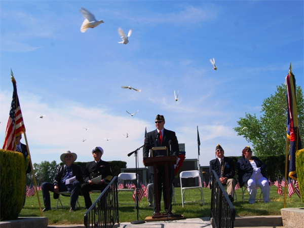 Dove Release Ceremony honoring our nation's veterans.
