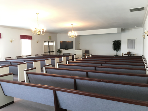 Our Chapel seats 125