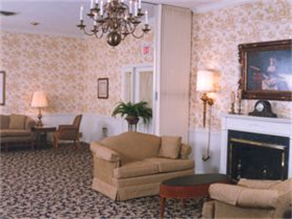 The East Visitation Room features comfortable furniture which can be arranged in a variety of ways to accommodate a families needs.