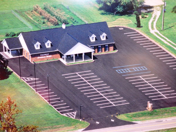 Aerial Shot of Chapman Funeral Home-Winfield