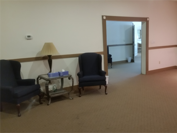 One of our two visitation rooms