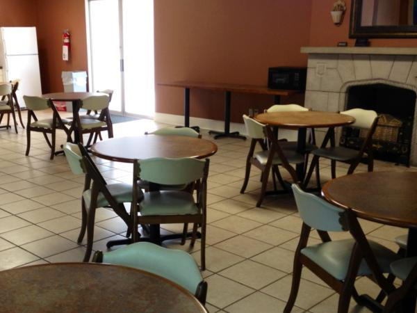 One of two large, comfortable lounges available for meals for the families we serve.