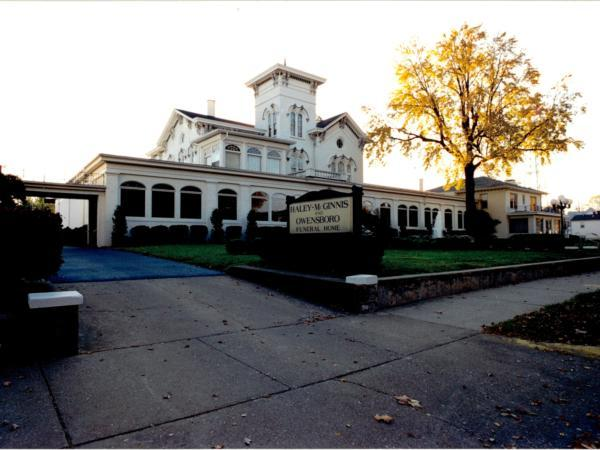 A registered landmark.  Haley-McGinnis & Owensboro Funeral Home.  A proud family tradition of excellence in funeral service and care.
