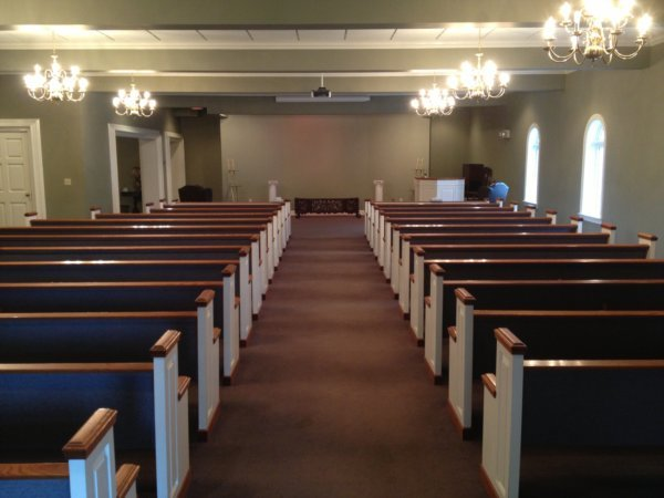 Large chapel for conducting reverent funeral and memorial services and visitations.