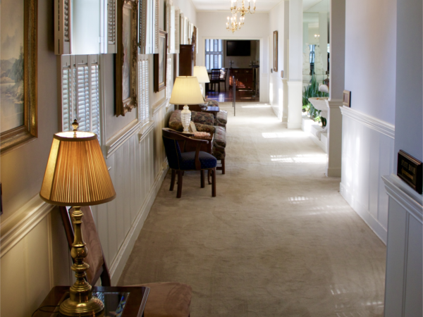 Hallway leading to Staterooms and Reception Hall.