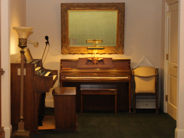 Music room We have a piano & organ in our chapel.