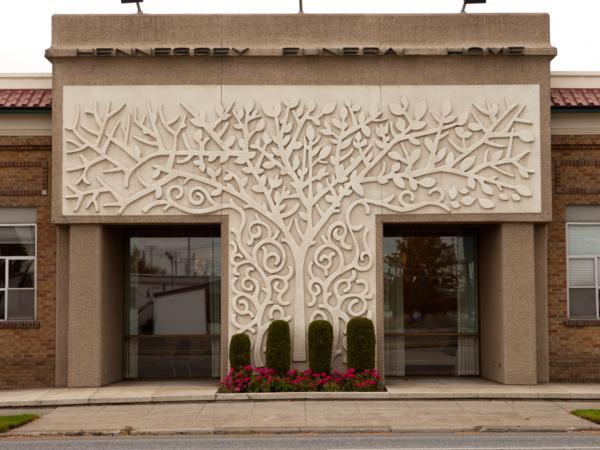 Tree of Life on Front of Building