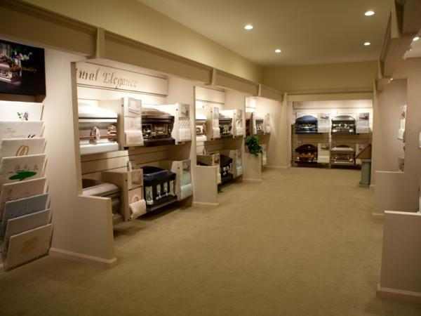 Casket & Urn Display Room
