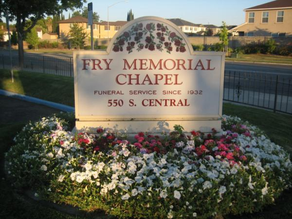 Fry Memorial Chapel has been serving area families in Tracy since 1989 after opening their first funeral home in Manteca in 1932.  While building this location a crematory was placed on the property and plans for a mausoleum were being worked on.  Our commitment to our families is to give them outstanding service and to provide them with a personalized service that represents their loved one and all of the lives their loved one touched.