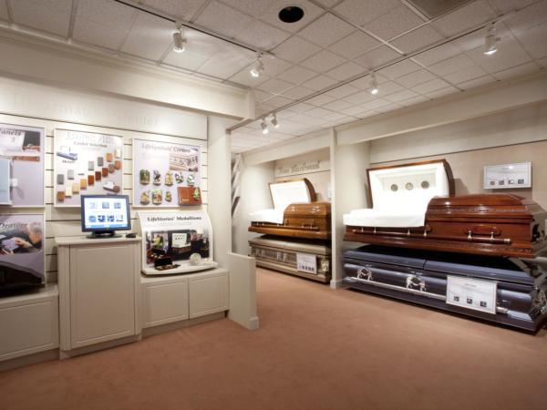 Casket Selection Room with Computer Kiosk