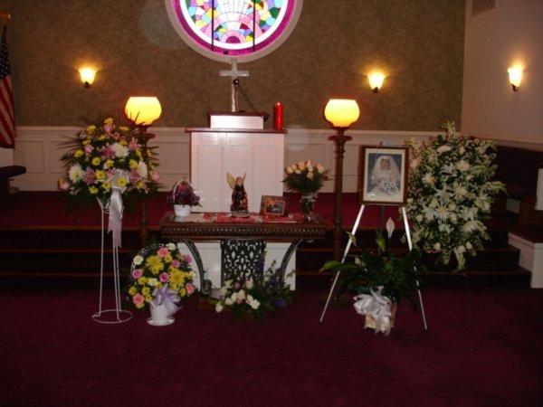 Memorial Table in Chapel