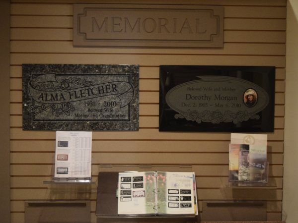 Our directors assist families with standard or custom markers (headstones).