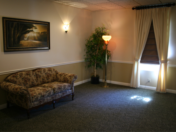 Our facility includes a Family Room for private viewings.