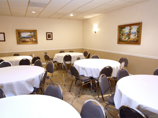 For those families who wish to enhance their services, we offer a Reception Room with seating up to 45 people.