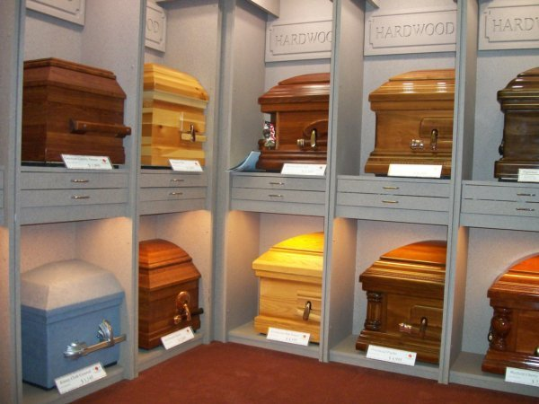 Wood casket selections