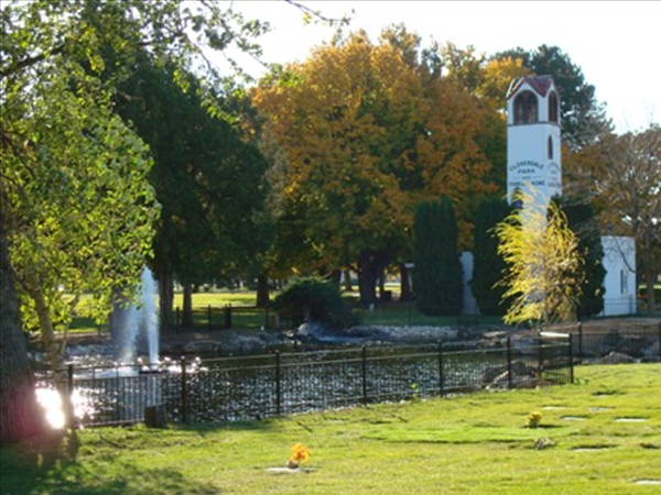 The recently remodeled Cloverdale Pond and Tower Building, local landmarks since 1936.