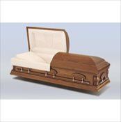 Woodhaven Pecan Wood Casket