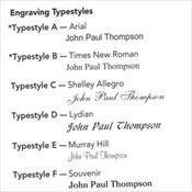 Engraving Typestyles