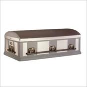 Silver Stainless 12 Gauge Steel Burial Vault