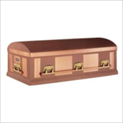 Solid 12 Gauge Copper Burial Vault