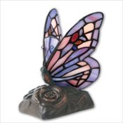 Purple Butterfly Lamp