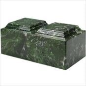 Meadow Green Synthetic Marble Companion Urn
