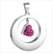 92. Pink Heart Circle
