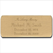 Personalized Brass Plate