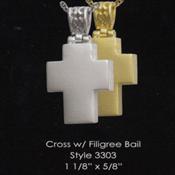 Cross with Filigree Bail