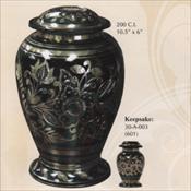 Emerald Green - Brass Urn
