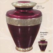 Golden Scarlet - Brass Urn