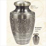 Platinum Engraved - Brass Urn