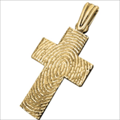Cross Life Print Keepsake Charm