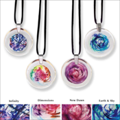Round Art Glass Keepsake Pendant