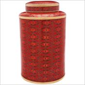 Red Rosette Cloisonné