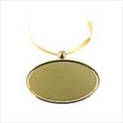 Golden Oval Pendant