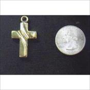 Wavy Gold Cross