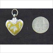 Silver Deep Gold Heart