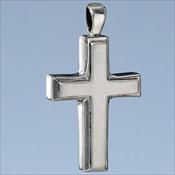 Sterling Silver Men's Cross Pendant